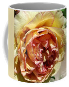 peony 19 Pale Yellow and Pink Tree Peony macro Coffee Mug