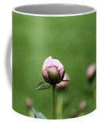 Peony Bud On Greenery Coffee Mug