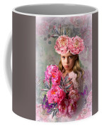Peony Flower Child Coffee Mug