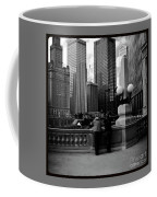 People And Skyscrapers - Square Coffee Mug