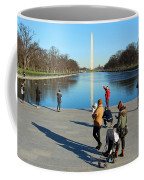 People At The Reflecting Pool Coffee Mug