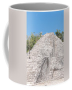 People Climbing Nohoch Mul At The Coba Ruins Coffee Mug
