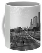 People Cycling On A Road, Bike The Coffee Mug