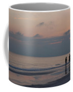 People Enjoy A Walk On The Beach Coffee Mug