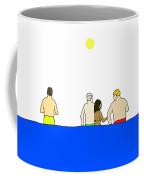 People In Pool Coffee Mug