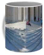 People On Steps With Columns Coffee Mug