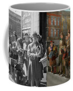 People - People Waiting For The Bus - 1943 - Side By Side Coffee Mug