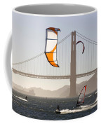 People Wind Surfing And Kitebording Coffee Mug by Skip Brown