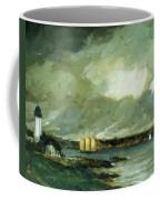 Pequot Light House Connecticut Coast 1902 Coffee Mug