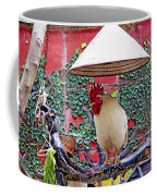 Perched Rooster Coffee Mug