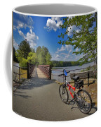 Perfect Weather For Cycling At Lake Brandt Coffee Mug