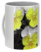 Perfectly Pansy 13 - Bw - Yellow Coffee Mug