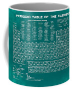 Periodic Table Of Elements In Green Coffee Mug