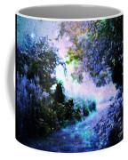 Fantasy Garden Path Periwinkle Coffee Mug