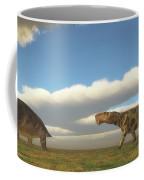 Permian Inostrancevia Hunts Keratocephalus Coffee Mug