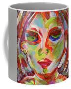 Persistence - Contemporary Art Face Coffee Mug