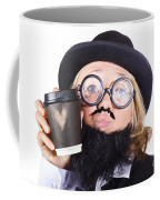 Person With Cup Of Coffee Coffee Mug