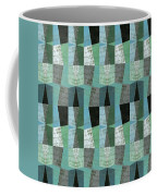 Perspective Compilation With Wood Grain And Teal Coffee Mug