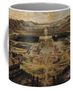 Perspective View Of The Chateau Gardens And Park Of Versailles Coffee Mug by Pierre Patel
