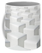 Perspective White Geometric Cube Outdoor Chairs Background Coffee Mug