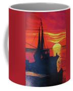 Peschereccio E Tramonto Coffee Mug