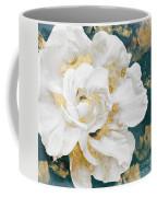Petals Impasto White And Gold Coffee Mug