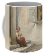 Peter Ilsted Danish, 1861-1933, On The Porch, Liselund Coffee Mug