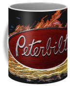 Peterbilt Emblem In Flames Coffee Mug