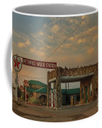 Petrified Gas Station After Rain Coffee Mug