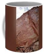 Petroglyphs On A Sheer Rock Wall Coffee Mug