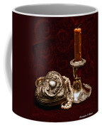 Pewter And Pearls Coffee Mug