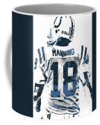 Peyton Manning Indianapolis Colts Pixel Art Coffee Mug