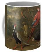 Pheasant Macaw Monkey Parrots And Tortoise  Coffee Mug