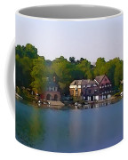 Philadelphia Boat House Row Coffee Mug by Bill Cannon