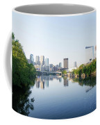 Philadelphia Cityscape Along The Schuylkill River Coffee Mug
