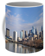 Philadelphia From The South Street Bridge Coffee Mug by Bill Cannon