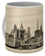 Philadelphia From The Waterfront In Sepia Coffee Mug