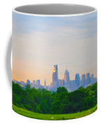 Philadelphia Skyline From West Lawn Of Fairmount Park Coffee Mug by Bill Cannon
