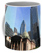 Philadelphia Street Level - Skyscrapers And Classical Building View Coffee Mug