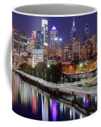 Philly In Panoramic View Coffee Mug
