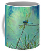 Photo Painted Dragonfly Coffee Mug