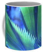 Photograph Of A Royal Palm In Blue Coffee Mug
