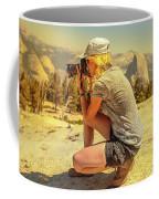 Photographer On Sentinel Dome Coffee Mug