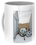 Photogrphic Illustration Of A Small Boat In New England Coffee Mug