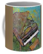 Piano Aqua Wall Coffee Mug