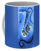 Piano Keys In A Saxophone Blue - Music In Motion Coffee Mug
