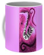 Piano Keys In A Saxophone Hot Pink - Music In Motion Coffee Mug