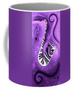 Piano Keys In A Saxophone Purple - Music In Motion Coffee Mug