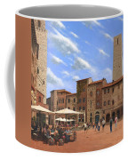 Piazza Della Cisterna San Gimignano Tuscany Coffee Mug