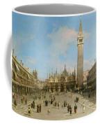 Piazza San Marco Looking Towards The Basilica Di San Marco  Coffee Mug